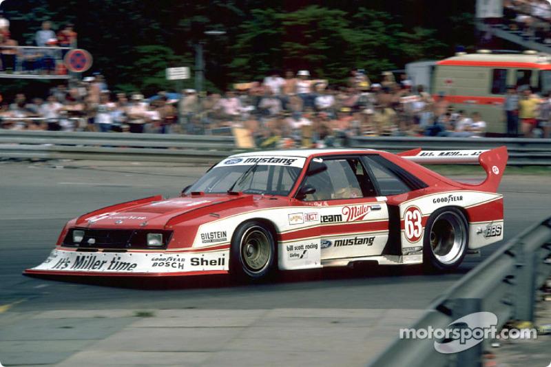 Miller Mustang de 1981 de Klaus Ludwig : elle était motorisée par un moteur 4 cylindres