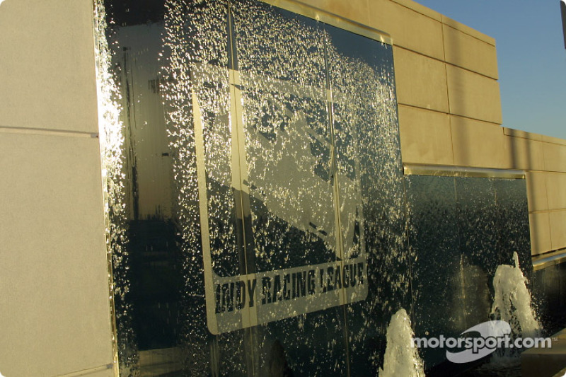 Water decor with Indy Racing League logo