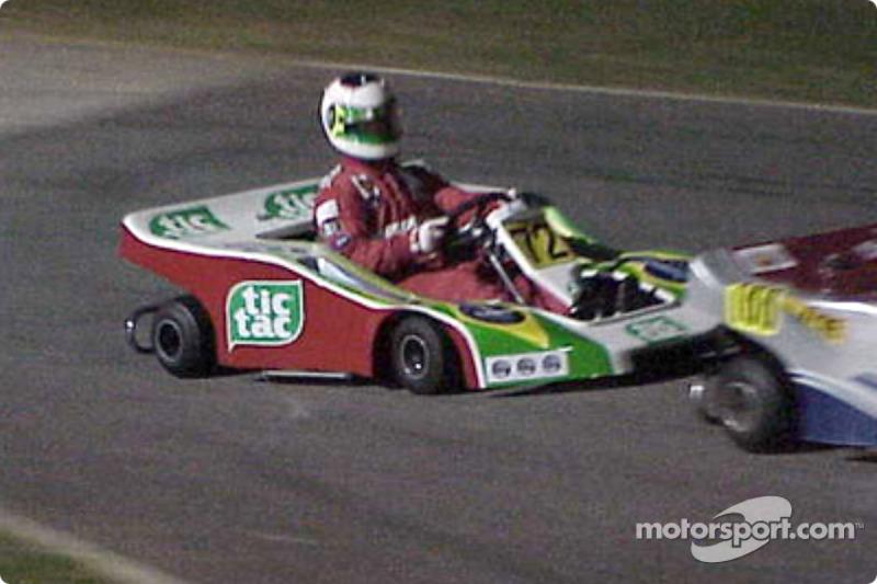 Rubens Barrichello in action