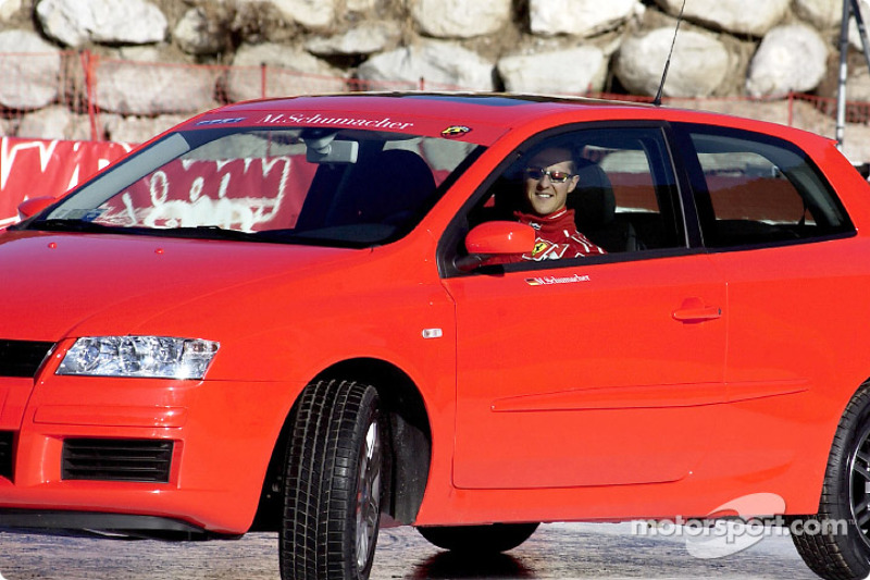 Michael Schumacher in the Fiat Stilo
