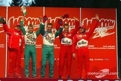 Rubens Barrichello, Marko Asmer, Davide Fore, Michael Schumacher et Luca Badoer