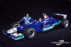 Felipe Massa et Nick Heidfeld avec la nouvelle Sauber Petronas C21