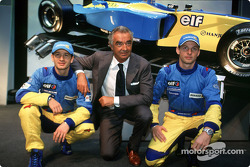 Jarno Trulli, Flavio Briatore and Jenson Button