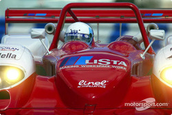 Mauro Baldi taking the pole-winning Judd Dallara out for the final practice