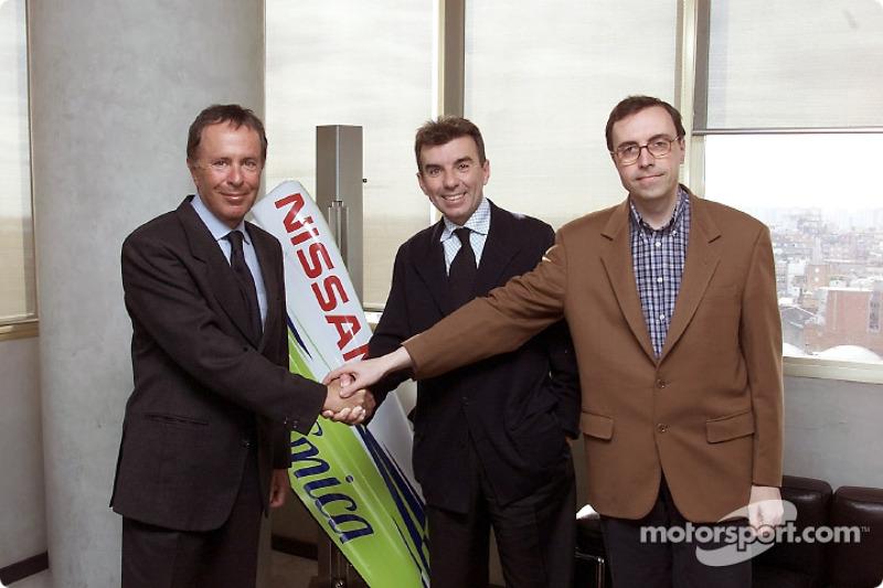 Presentazione RPM Racing: Cesare Fiorio, Direttore Tecnico, Jaime Alguersuari, President di RPM, e Jordi Castells, Direttore Sportivo
