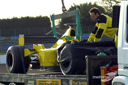 Jordan after ve off-track excursion by Giancarlo Fisichella