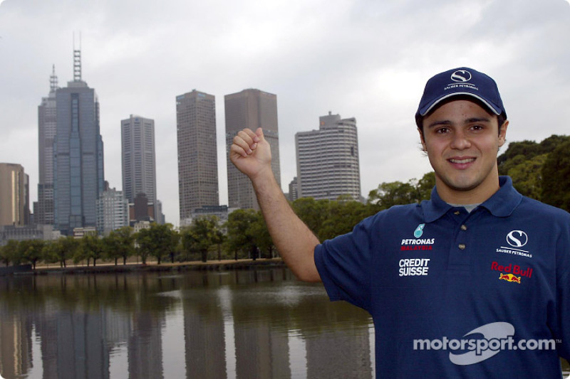 Felipe Massa and downtown Melbourne
