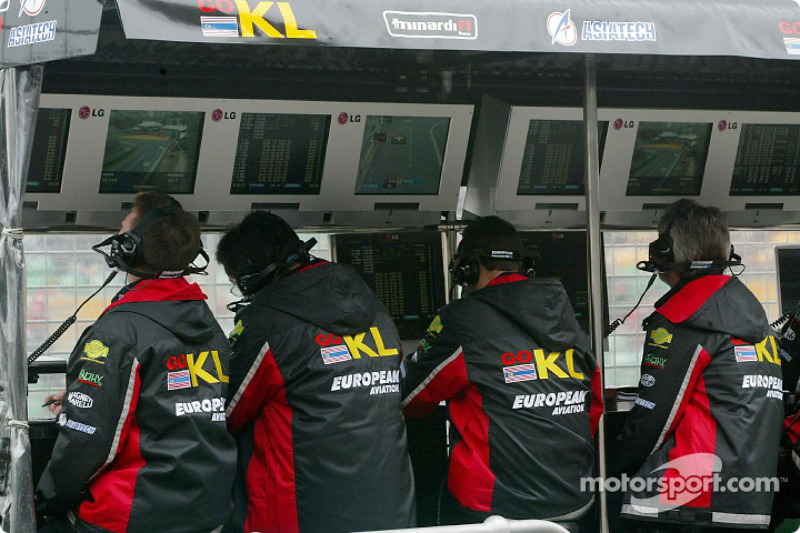Minardi pitwall