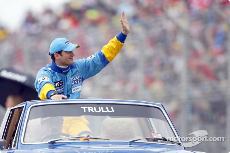 Drivers parade: Jarno Trulli