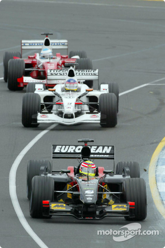 Alex Yoong, Jacques Villeneuve and Mika Salo