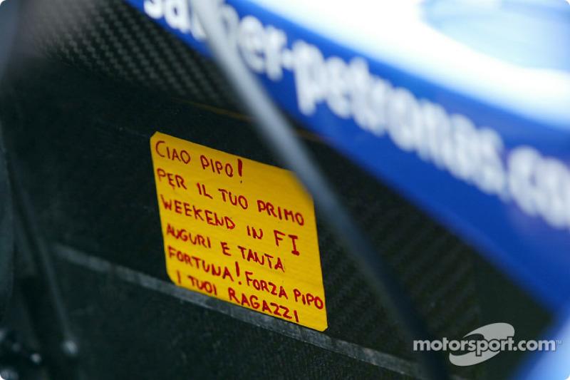 Message for Felipe Massa