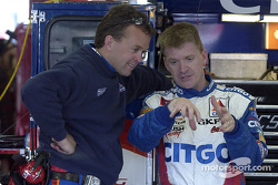 Jeff Burton and Frankie Stoddard discussing