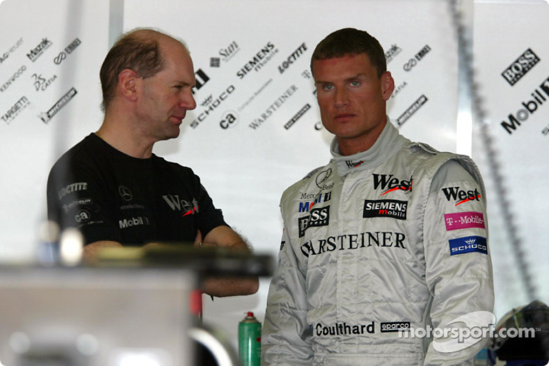 Adrian Newey and David Coulthard