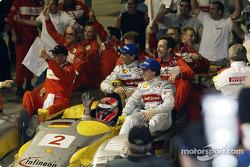 Race winners Johnny Herbert, Rinaldo Capello and Christian Pescatori