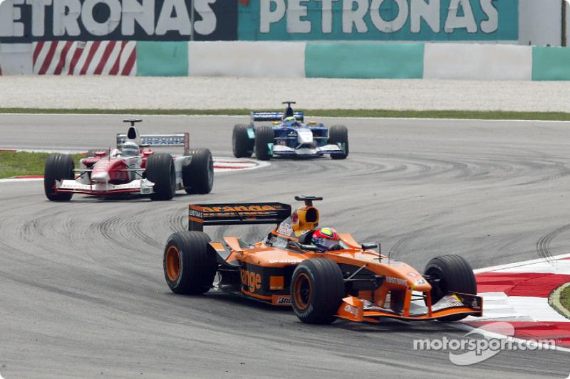 Enrique Bernoldi, Allan McNish and Felipe Massa