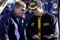 Matt Kenseth en qualifications avec son coéquipier Jeff Burton