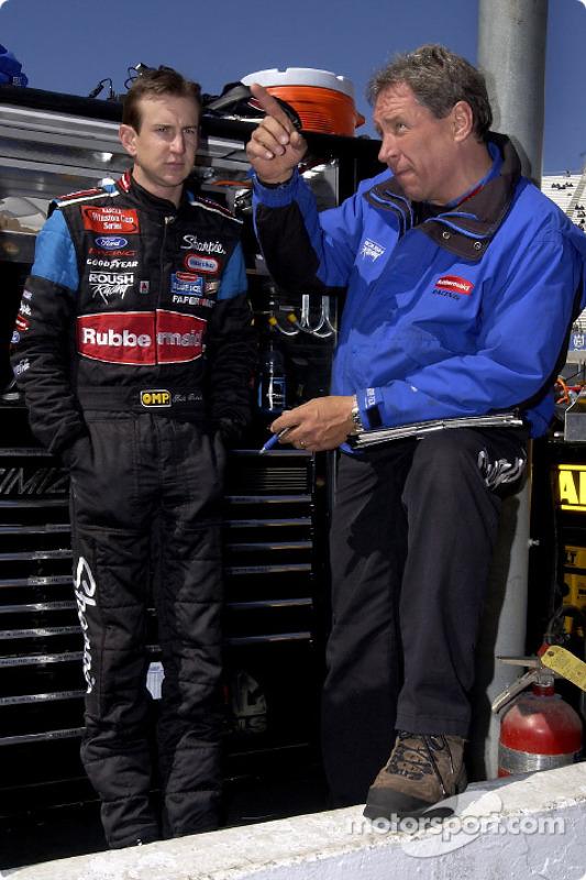 Kurt Busch et son chef d'équipe Jim Fenning