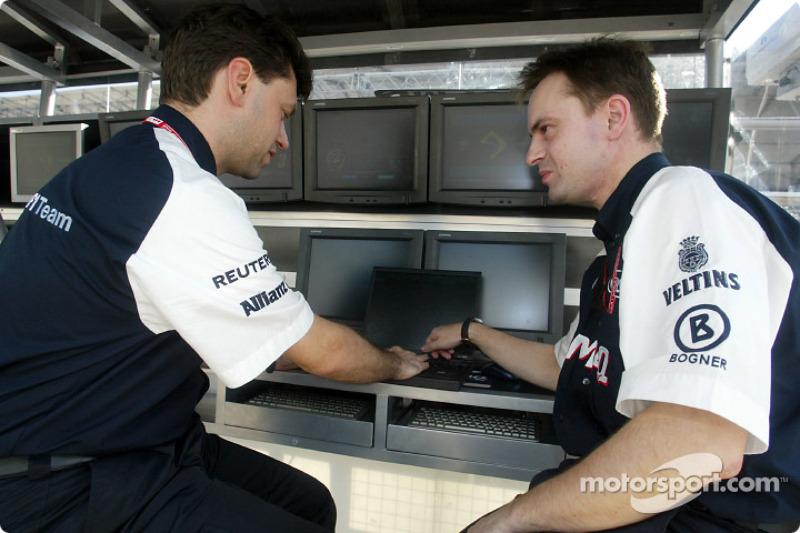 Ingenieros del Williams F1