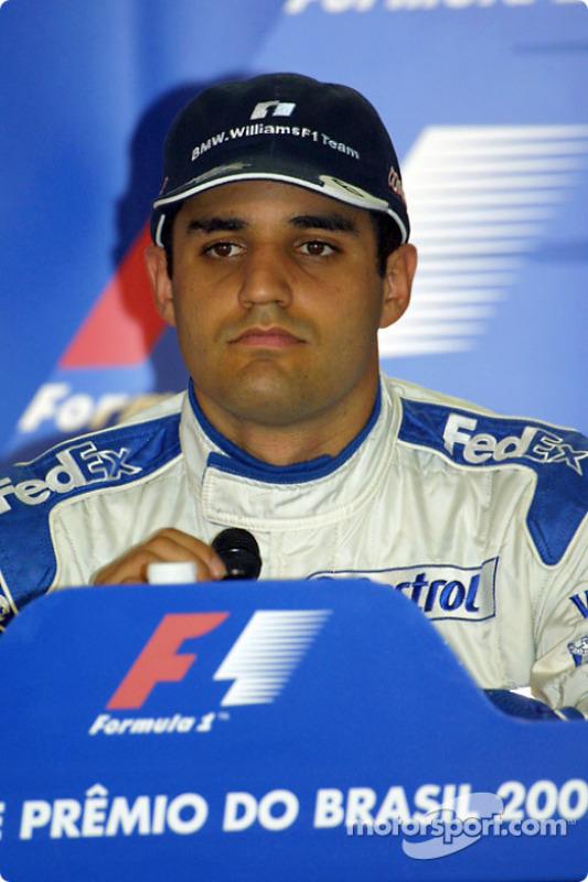 Conferencia de prensa: el ganador de la pole, Juan Pablo Montoya
