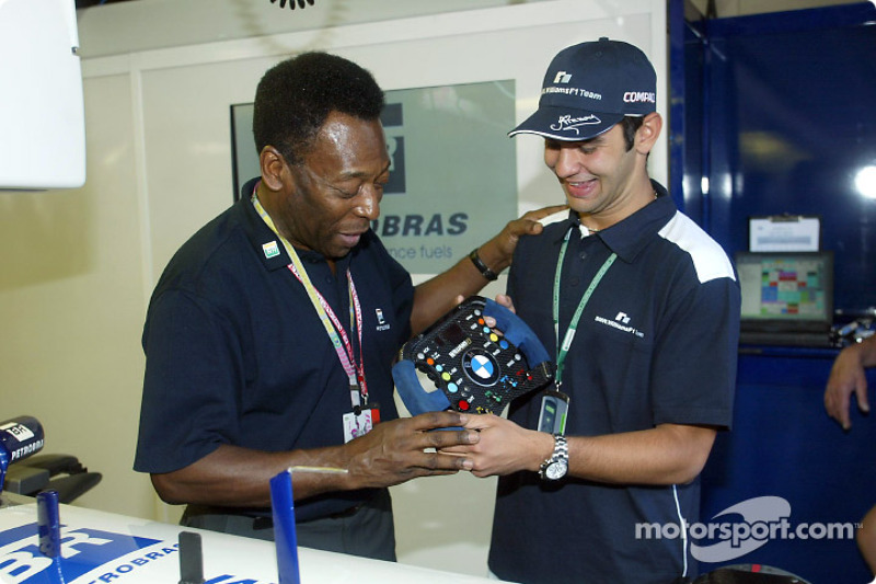 The Great Pelé with Antonio Pizzonia