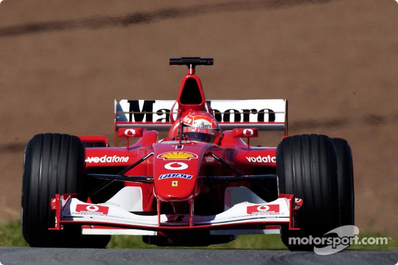 Michael Schumacher en la sesión de calentamiento