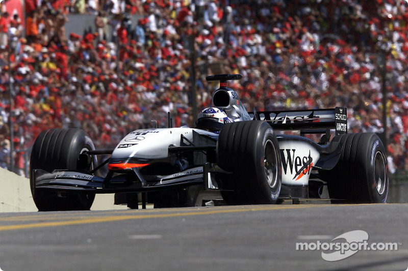 David Coulthard en la sesión de calentamiento