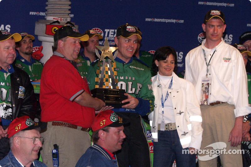 Race winner Jeff Purvis