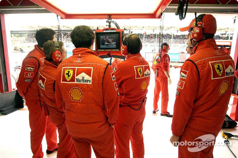 Área de garage de Ferrari