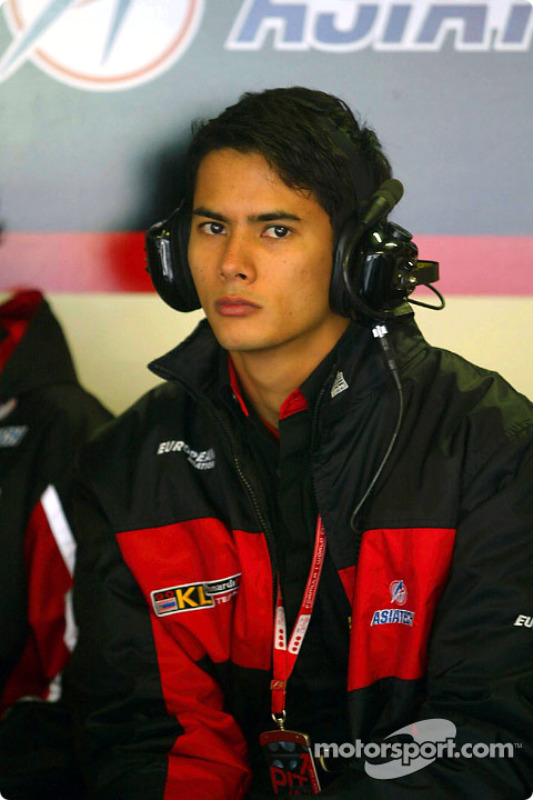 Alex Yoong had to watch the race