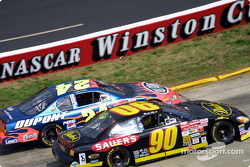 Jeff Gordon passing Rick Mast