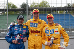 Karl Wendlinger, Laurent Aiello and Martin Tomczyk