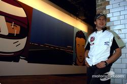 El artista británico Julian Opie junta el arte con las carreras de Fórmula 1: Olivier Panis