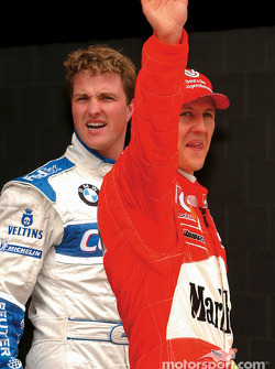 Pole winner Michael Schumacher and brother Ralf
