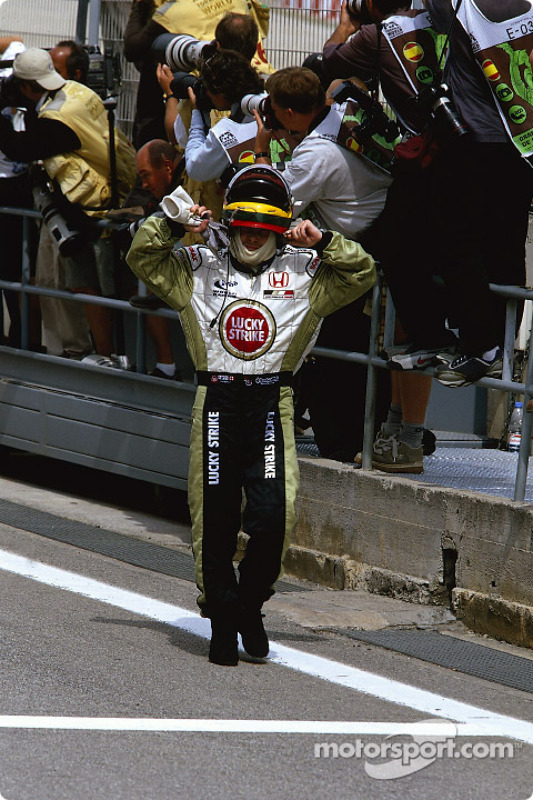 Jacques Villeneuve after the race