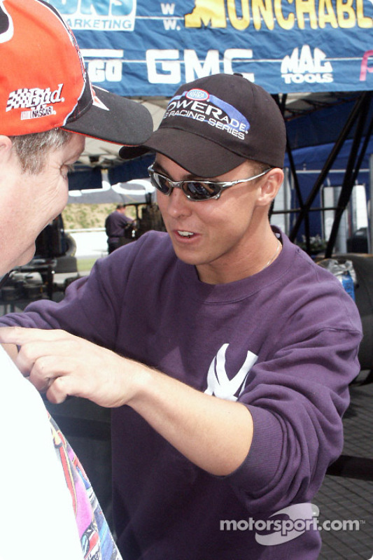 Yankee Dragster driver signs autographs