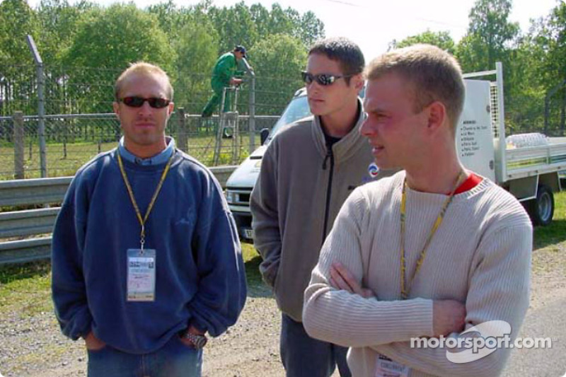 Pilotos de Panoz revisan las nuevas adiciones al circuito de las 24 Horas de Le Mans: Bill Auberlen,