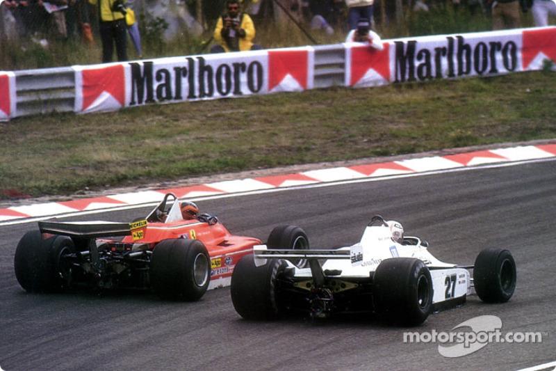 Gilles Villeneuve et Alan Jones lors du GP des Pays-Bas 1979