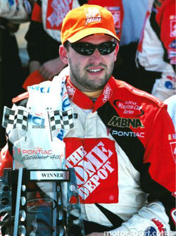 Race winner Tony Stewart