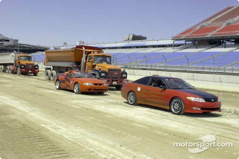 Construction work at Chicago Motor Speedway
