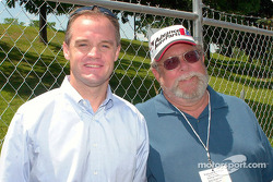 Kenny Wallace with Motorsport.com reporter Rich Romer