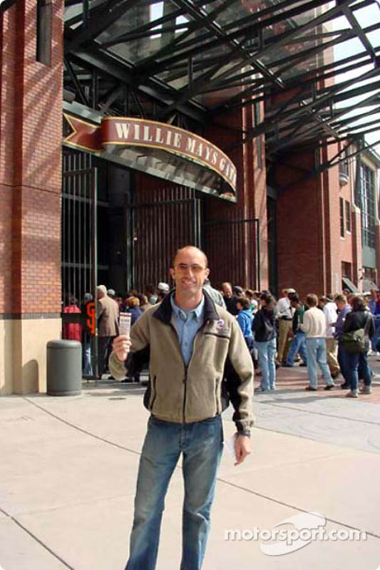 David Brabham at a baseball game in San Francisco
