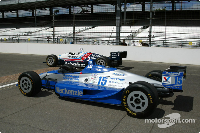 Al Unser Jr. and Scott Goodyear who were involved in the closest finish ever at the Indy 500 in 2005