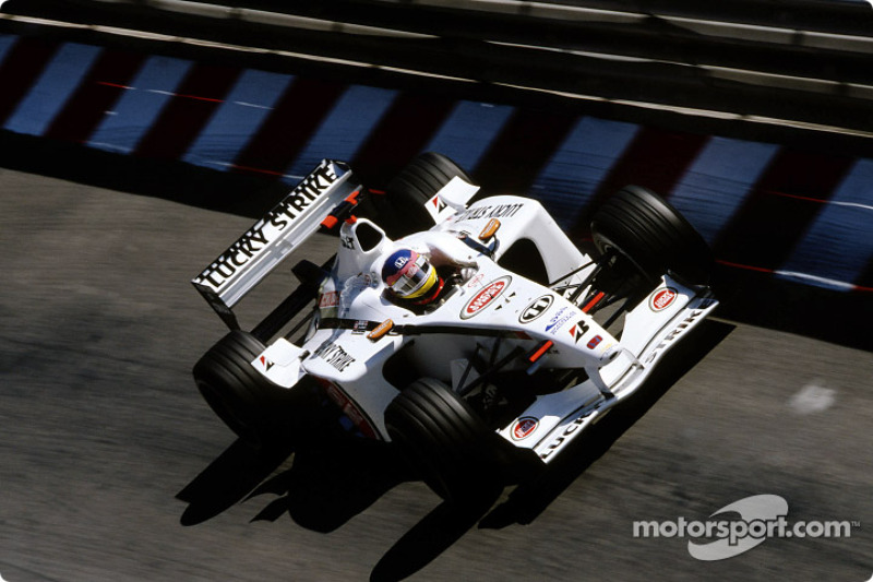 Jacques Villeneuve in the warmup session