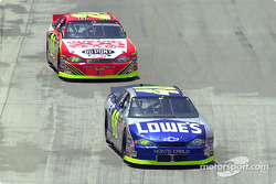 Jimmie Johnson leads Jeff Gordon