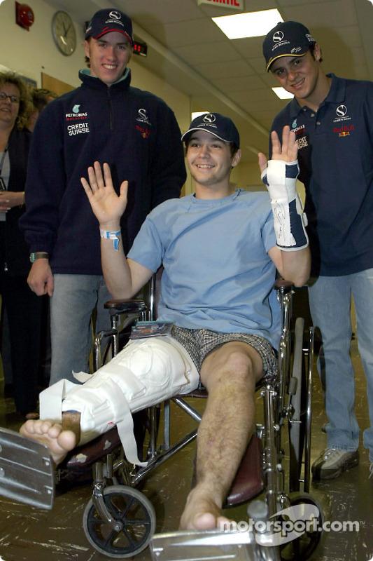 Visita al Hospital Infantil de Sainte-Justine en Montreal: Nick Heidfeld y Felipe Massa