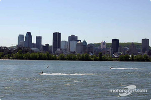 Downtown Montreal, as seen from the flip side of curve 9 of the Circuit Gilles Villeneuve