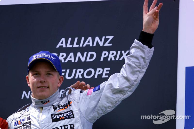 El podio: Kimi Raikkonen