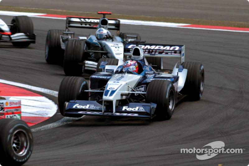 The first lap: Juan Pablo Montoya