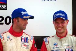 The podium: David Brabham and Jan Magnussen