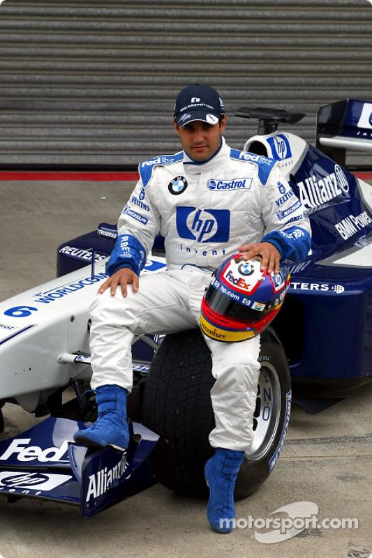 Presentación del nuevo patrocinio de HP en el Williams-BMW: Juan Pablo Montoya